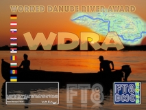 WDRA Award Manager OD5TE In recognition of international two-way FT8 amateur radio communication, the FT8 Digital Mode Club (FT8DMC) issues Worked-Danube-River-Award certificates to amateur radio stations of the world. Qualification for the FT8 WDRA award is based on an examination by the FT8 WDRA Award Manager, from QSOs that the applicant has made contact with each 3 amateur radio stations from the 10 countries that cross the Danube River on their way from the Black Forest to the Black Sea. These countries are: Germany-DL, Austria-OE, Slovakia-OM, Hungary- HA, Croatia-9A, Serbia-YU, Romania-YO, Bulgaria-LZ, Moldova-ER and Ukraine- UR. All contacts must be made from the same country (DXCC-entity).