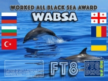 WABSA Award Manager 9K2OW In recognition of international two-way FT8 amateur radio communication, the FT8 Digital Mode Club (FT8DMC) issues Worked-All-Black-Sea-Award certificates to amateur radio stations of the world. Qualification for the FT8 WABSA award is based on an examination by the FT8 WABSA Award Manager, from QSOs that the applicant has made contact with each 5 amateur radio stations from the 6 countries that have their borders to the Black Sea. All contacts must be made from the same country (DXCC-entity). Valid DXCCs: 4L, LZ, UR, UA, TA, YO
