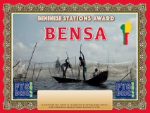 BENSA Award Manager DJ6OI In recognition of international two-way FT8 amateur radio communication, the FT8 Digital Mode Club (FT8DMC) issues Benisese-Stations-Award certificates to amateur radio stations and SWL of the world. Qualification for the FT8 TOGSA award is based on an examination by the FT8 BENSA Award Manager. The applicant has to prove that he has made contact with at least 2 different amateur radio stations from Benin. All contacts must be made from the same country (DXCC entity).