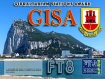 GISA Award Manager IK8YFU In recognition of international two-way FT8 amateur radio communication, the FT8 Digital Mode Club (FT8DMC) issues Gibraltarian-Stations-Award certificates to amateur radio stations and SWL of the world. Qualification for the FT8 GISA award is based on an examination by the FT8 GISA Award Manager. The applicant has to prove that he has made contact with at least 3 different amateur radio stations from Gibraltar. All contacts must be made from the same country (DXCC entity).