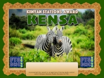 KENSA Award Manager A92AA  recognition of international two-way FT8 amateur radio communication, the FT8 Digital Mode Club (FT8DMC) issues Kenyan-Stations-Award certificates to amateur radio stations and SWL of the world. Qualification for the FT8 KENSA award is based on an examination by the FT8 KENSA Award Manager. The applicant has to prove that he has made contact with at least 2 different amateur radio stations from Kenya. All contacts must be made from the same country (DXCC entity).