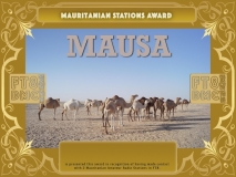 MAUSA Award Manager A92AA In recognition of international two-way FT8 amateur radio communication, the FT8 Digital Mode Club (FT8DMC) issues Mauritanian-Stations-Award certificates to amateur radio stations and SWL of the world. Qualification for the FT8 MAUSA award is based on an examination by the FT8 MAUSA Award Manager. The applicant has to prove that he has made contact with at least 2 different amateur radio stations from Mauritania. All contacts must be made from the same country (DXCC entity).