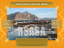 RSASA Award Manager A92AA recognition of international two-way FT8 amateur radio communication, the FT8 Digital Mode Club (FT8DMC) issues South African-Stations-Award certificates to amateur radio stations and SWL of the world. Qualification for the FT8 RSASA award is based on an examination by the FT8 RSASA Award Manager. The applicant has to prove that he has made contact with at least 5 different amateur radio stations from South Africa. All contacts must be made from the same country (DXCC entity).