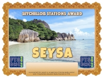 SEYSA Award Manager A92AA In recognition of international two-way FT8 amateur radio communication, the FT8 Digital Mode Club (FT8DMC) issues Seychellois-Stations-Award certificates to amateur radio stations and SWL of the world. Qualification for the FT8 SEYSA award is based on an examination by the FT8 SEYSA Award Manager. The applicant has to prove that he has made contact with at least 3 different amateur radio stations from Seychelles.
