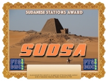 SUDSA Award Manager A92AA In recognition of international two-way FT8 amateur radio communication, the FT8 Digital Mode Club (FT8DMC) issues Sudanese-Stations-Award certificates to amateur radio stations and SWL of the world. Qualification for the FT8 SUDSA award is based on an examination by the FT8 SUDSA Award Manager. The applicant has to prove that he has made contact with at least 2 different amateur radio stations from Sudan. All contacts must be made from the same country (DXCC entity).