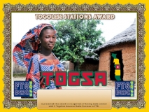 TOGSA Award Manager DJ6OI In recognition of international two-way FT8 amateur radio communication, the FT8 Digital Mode Club (FT8DMC) issues Togolese-Stations-Award certificates to amateur radio stations and SWL of the world. Qualification for the FT8 TOGSA award is based on an examination by the FT8 TOGSA Award Manager. The applicant has to prove that he has made contact with at least 2 different amateur radio stations from Togo. All contacts must be made from the same country (DXCC entity).