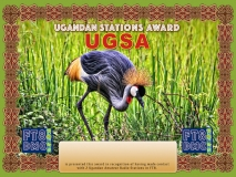 UGSA Award Manager DK5UR In recognition of international two-way FT8 amateur radio communication, the FT8 Digital Mode Club (FT8DMC) issues Ugandian-Stations-Award certificates to amateur radio stations and SWL of the world. Qualification for the FT8 UGSA award is based on an examination by the FT8 UGSA Award Manager. The applicant has to prove that he has made contact with at least 2 different amateur radio stations from Uganda. All contacts must be made from the same country (DXCC entity).