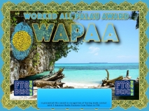 WAPAA Award Manager ZL1MVL In recognition of international two-way FT8 amateur radio communication, the FT8 Digital Mode Club (FT8DMC) issues Worked-All-Palau-Award certificates to amateur radio stations and SWL of the world. Qualification for the FT8 WAPAA award is based on an examination by the FT8 WAPAA Award Manager. The applicant has to prove that he has made contact with at least 2 different amateur radio stations from Palau. All contacts must be made from the same country (DXCC entity)