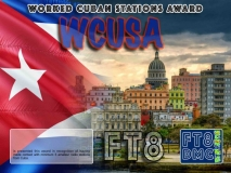 WCUSA Award Manager F1ULQ In recognition of international two-way FT8 amateur radio communication, the FT8 Digital Mode Club (FT8DMC) issues Worked-Cuban-Stations-Award certificates to amateur radio stations and SWL of the world. Qualification for the FT8 WCUSA award is based on an examination by the FT8 WCUSA Award Manager. The applicant has to prove that he has made contact with at least 5 different amateur radio stations from Cuba. All contacts must be made from the same country (DXCC entity).