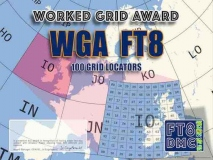 WGA Award Manager F1ULQ In recognition of international two-way FT8 amateur radio communication, the FT8 Digital Mode Club (FT8DMC) issues Worked-GRID-Award certificates to amateur radio stations and SWL of the world. Qualification for the FT8 WGA award is based on an examination by the FT8 WGA Award Manager. The applicant has to prove that he has made contact with amateur radio stations from 100 different Grid Locators. Following levels available: 100, 200, 300, 400, 500, 750, 1000, 1500 and 2000 different Grid Locators worked.All contacts must be made from the same country (DXCC-entity).