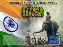 WISA Award Manager 9K2OW In recognition of international two-way FT8 amateur radio communication, the FT8 Digital Mode Club (FT8DMC) issues Worked-Indian-Stations certificates to amateur radio stations and SWL of the world. Qualification for the FT8 WISA award is based on an examination by the FT8 WISA Award Manager. The applicant has to prove that he has made contact with at least 10 different amateur radio stations from India. All contacts must be made from the same country (DXCC entity). Band endorsements for 2, 6, 10, 12, 15, 17, 20, 30, 40, 60, 80 and 160m available.
