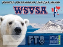 WSVSA Award Manager DJ6OI In recognition of international two-way FT8 amateur radio communication, the FT8 Digital Mode Club (FT8DMC) issues Worked-Svalbardian-Stations-Award certificates to amateur radio stations and SWL of the world. Qualification for the FT8 WSVSA award is based on an examination by the FT8 WSVSA Award Manager. The applicant has to prove that he has made contact with at least 5 different amateur radio stations from Svalbard. All contacts must be made from the same country (DXCC entity).