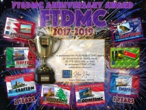 FTDMC Award Manager OD5TE.  An FTDMC Anniversary Award can be earned by working the FTDMC and FTDM stations and collecting points applicable for various award classes: Bronze: 10 QSO's with at least 3 different special 'FTDMC/FTDM' stations Silver: 15 QSO's with at least 4 different special 'FTDMC/FTDM' stations Gold: 20 QSO's with at least 5 different special 'FTDMC/FTDM' stations Platinum: 30 QSO's with all activated 'FTDMC/FTDM' stations. Please note: working the same station on the same band in the same mode is a 'dupe' QSO and will not be considered for the award. The award will be available for free in a digital format.