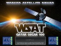 WSAT F1ULQ Award Manager In recognition of international two-way FT8 amateur radio communication, the FT8 Digital Mode Club (FT8DMC) issues Worked-Satellite-Award certificates to amateur radio stations of the world. Qualification for the WSAT award is based on an examination by the WSAT Award Manager, from QSOs that the applicant has made contacts with 10 amateur radio stations via Satellite QO-100. All contacts must be made from the same country (DXCC-entity).